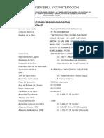INFORME DEL RESIDENTE DE OBRA FEBRERO 2021
