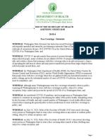 Washington Secretary of Health Order 20-03