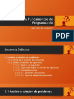 Presentacion Introducción a Fundamentos de Programación