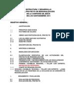 ESTRUCTURA DEL PROYECTO DE REGIONALIZACIÓN DE LA COMPAÑÍA DE JESÚS EN LOS SANTANDERES