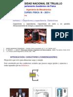 SEMANA 7 - CAPACITORES Y CAPACITANCIA - DIELÉCTRICOS - 2021-I