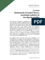 La Teoría Fundamentada -Grounded Theory- Metodología Cualitativa