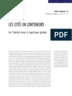 Les cités en conteneurs