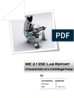 ME2135E Fluid Mechanics Lab -1 Centrifigual Pump