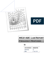 ME2142E Feedback and Control Lab -Frequency Response