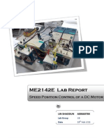 ME2142E Feedback and Control Lab -Speed Position Control of a DC Motor