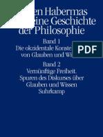 Jürgen Habermas Auch eine Geschichte der Philosophie 1 y 2