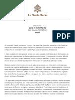 Quae in Patriarchatu. Pío IX