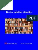 Revista opiniilor didactice, Nr. 5 - ianuarie 2021