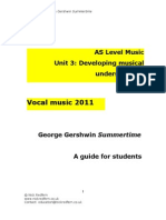As Music Gershwin Study Guide - Summertime