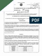 Decreto sobre asignaciones salariales en la Rama Ejecutiva