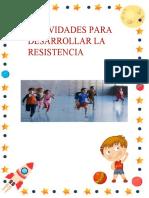 actividades para la resistencia ,