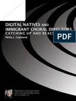 Digital Natives and Immigrant Conductors