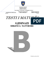Testi B Gjimnazi Natyror Qershor 2010