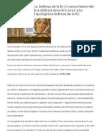 9. Apologética_ Defensa de La Fe