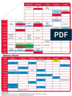Group Fitness Timetable effective 1 March 2011
