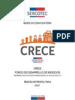 Bases de Convocatoria Crece 2021 Sercotec