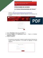 INSTRUCCIONES DE ACCESO CURSOS INTERSEMESTRALES DE VERANO