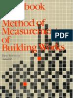 HAnd Book of Method of Measurement Building Works