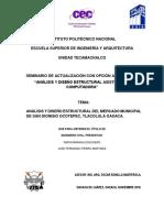 Análisis y diseño estructural TE-10448