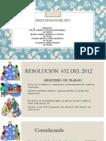 Resolución 652 del 2012