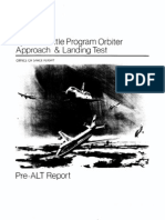 Space Shuttle Orbiter Approach and Landing Test (ALT) Program Pre-ALT Report
