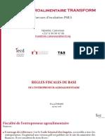 2018 05 15 Fiscalité de l'entrepreneur agroalimentaire