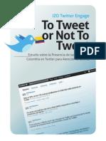 Estudio sobre la Presencia de las Marcas en Colombia en Twitter para Atención al Cliente 2011