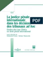 La Justice Penale Internationale Dans Le[1]