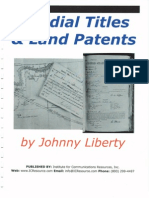 13173135 Allodial Titles and Land Patents