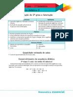 Matemática 9º ano 1º bimestre Sequência didática 2