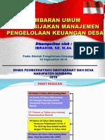 Materi Gambaran Umum Dan Kebijakan Pengelolaan Keuangan Desa