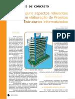 Alguns aspectos relevantes na Elaboração de Projetos Estruturais Informatizados