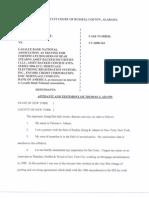 HOMEOWNER WINS--HORACE CASE-- Tom Adams Affidavit -MARCH 2011