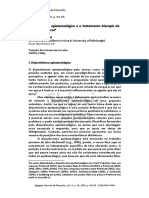 Pritchard (2016) - Disjuntivismo epistemológico e o tratamento biscopic do ceticismo radical