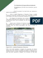 instalação-desinstalação de programas, recursos, atualizações