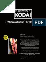 Novedades Kodai Septiembre 2021
