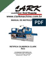 Manual de Instruções - Retífica Cilíndrica Rcu