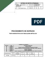 PI-MV-011-TESTE HIDROSTÁTICO DE TUBULAÇÕES METÁLICAS