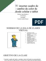 PASO IV Insertar Cuadro de Texto y Cambio de Color de Fuente Desde Celular o Tablet 5 Básico