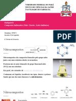 Nitrocompostos Halogeneto Compostos Sulfurados