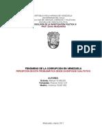Trabajo de Metodología de la Investigación III. Corrupción