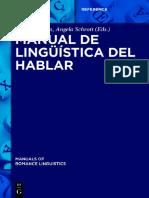 Manual de lingüística del hablar- Loureda y Schrott