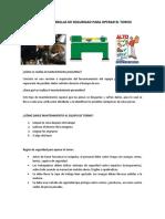 MANTENIMIENTO Y REGLAS DE SEGURIDAD PARA OPERAR EL TORNO