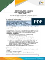 Tarea 3 - Antropología Psicológica y Psicología Cultural.