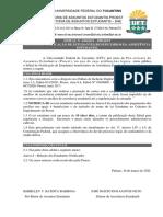 Edital Nº 030_Proest_ Notificação de Estudantes Beneficiários da Assistência Estudantil - Não Prestação de Contas