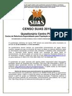 Questionario Centro POP - Censo SUAS 2019