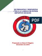 BANCO PREGUNTAS PATRÓN DEPORTIVO DE BAHÍA