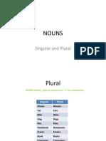 NOUNS - singular and plural