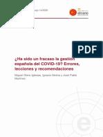 DT14 2020 Otero Molina Martinez Ha Sido Un Fracaso Gestion Española Del Covid 19
